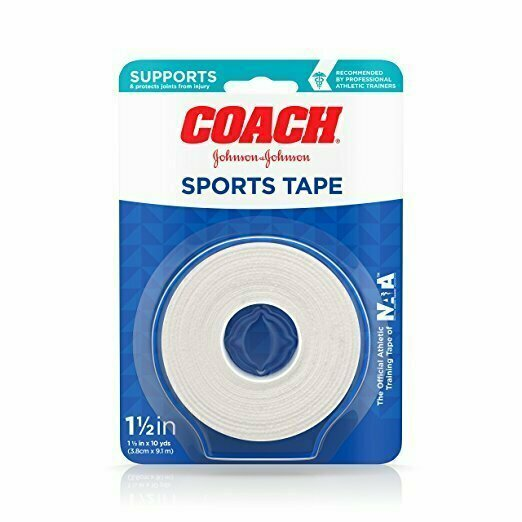 Johnson & Johnson Coach Sports Tape, 1.5 Inches By 10 Yards - usaotc.com