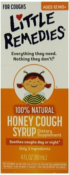 Little Remedies Honey Cough Syrup, 4 Fluid Ounce - usaotc.com