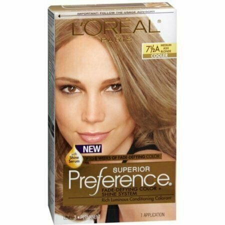 L'Oreal Superior Preference Hair Color [7-1/2A] Medium Ash Blonde (Cooler) 1 Each - usaotc.com