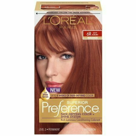 L'Oreal Superior Preference Permanent Hair Color, 6R Light Auburn (Warmer) 1 each - usaotc.com