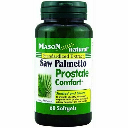 Mason Naturals Saw Palmetto Prostate Comfort Softgels 60 each - usaotc.com