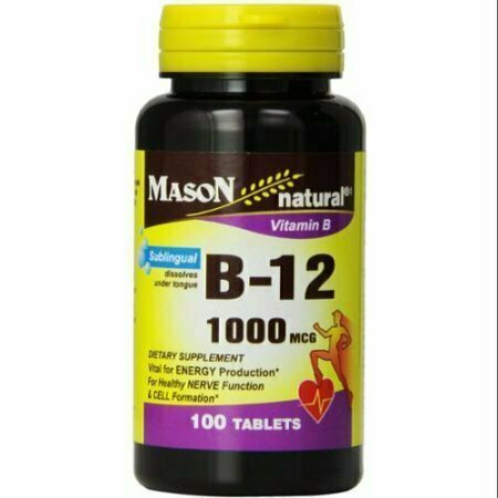 Mason Natural Vitamin B-12 1000mcg, Sublingual Tablets 100 ea - usaotc.com