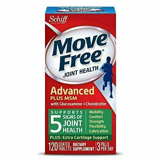 Move Free Advanced Plus MSM, 120 tablets - Joint Health Supplement with Glucosamine and Chondroitin - usaotc.com