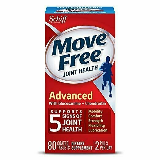 Move Free Triple Strength Glucosamine Chondroitin and Hyaluronic Acid Joint Supplement, 80 Count - usaotc.com