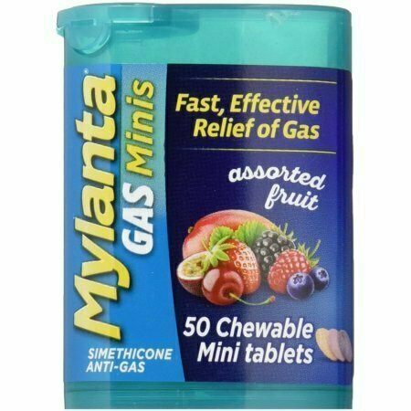Mylanta Gas Chewable Mini Tablets, Assorted Fruit 50 Pack - usaotc.com