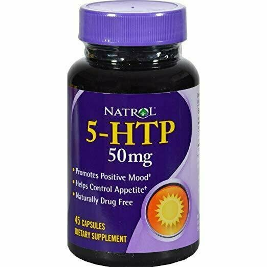 Natrol 5 HTP 50mg Dietary Supplement - 45 capsules per pack -- 1 each - usaotc.com