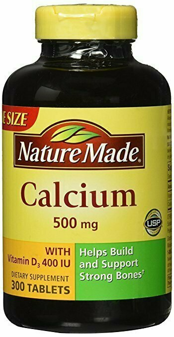 Nature Made Calcium 500 mg + Vitamin D3 Tabs, 300 ct - usaotc.com