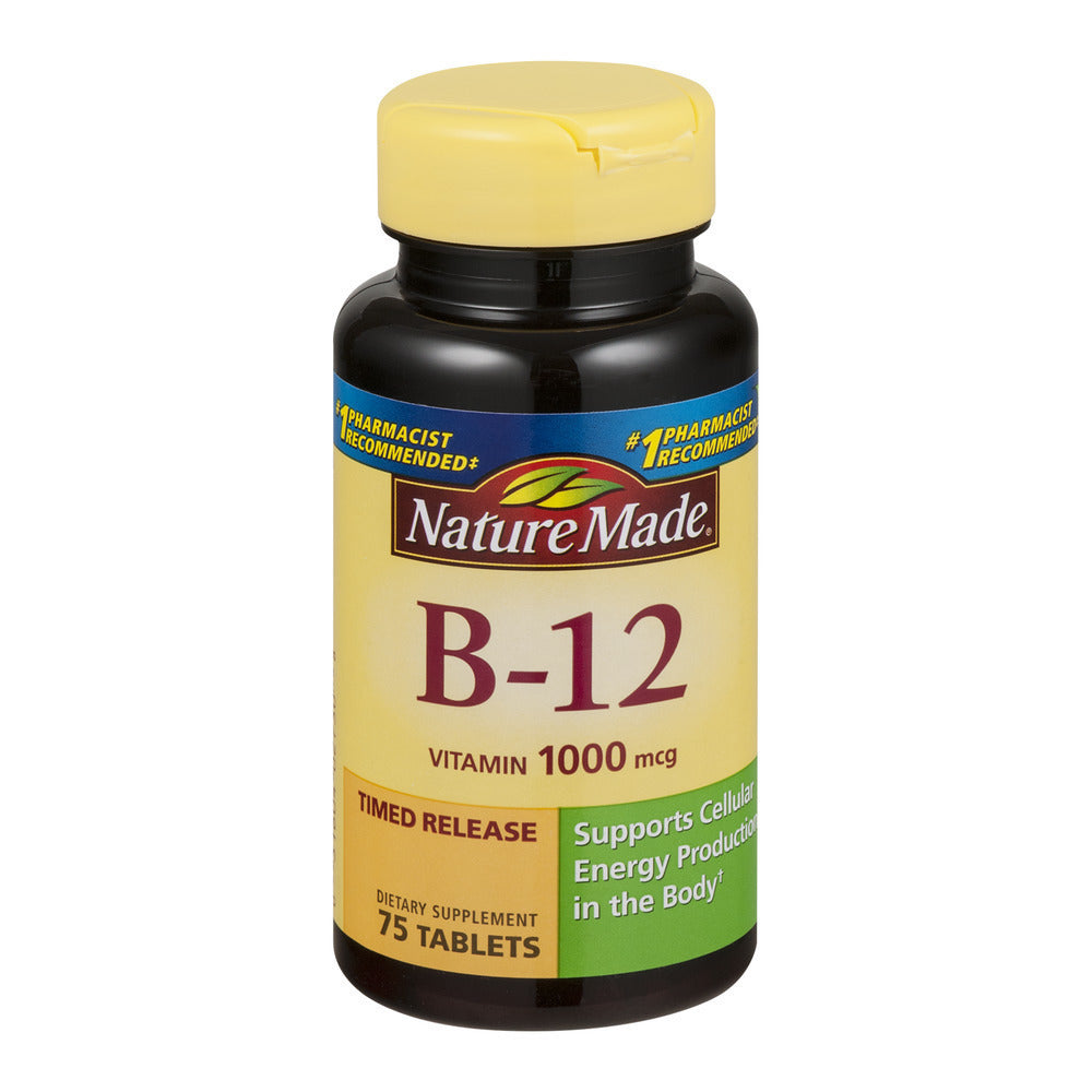 Nature Made Vitamin B-12 Tablets Dietary Supplement, 1000 mcg, 75 count - usaotc.com