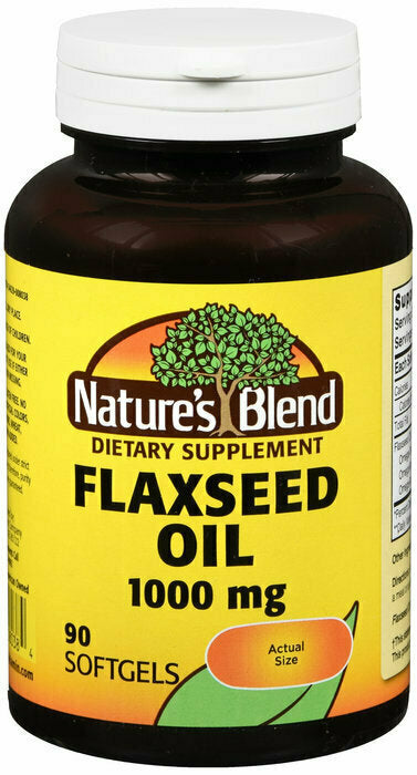 Nature's Blend Flaxseed Oil 1000mg Gelcaps 90 Ct - usaotc.com
