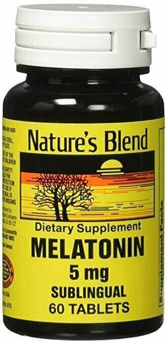 Natures Blend Melatonin 5 mg 60 Tabs - usaotc.com