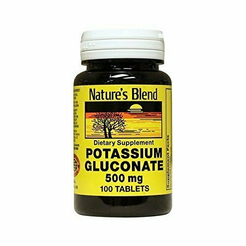 Nature's Blend Potassium Gluconate 500 mg 100 Tabs - usaotc.com