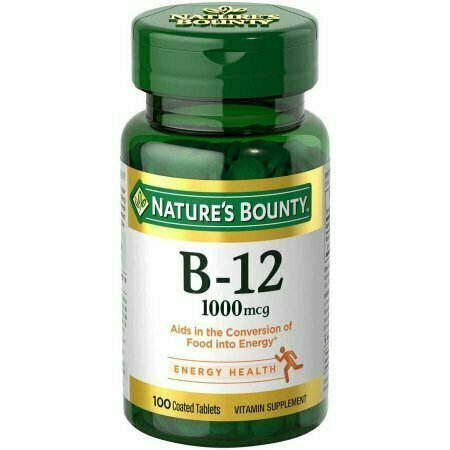 Nature's Bounty B-12 Vitamin Supplement Tablets, 5000mcg, 40 count - usaotc.com