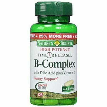 Nature's Bounty B-Complex with Folic Acid plus Vitamin C Tablets 125 Each - usaotc.com