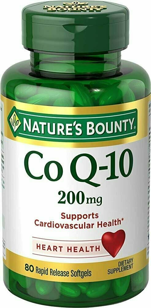 Nature's Bounty Co Q-10 200 mg, 80 Ct Rapid Release Softgels - usaotc.com