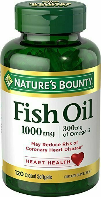 Nature's Bounty Fish Oil 1000 mg Omega-3 & Omega-6, 120 Odorless Softgels - usaotc.com