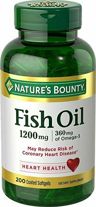 Nature's Bounty Fish Oil 1200 mg Odorless, 200 Coated Softgels - usaotc.com