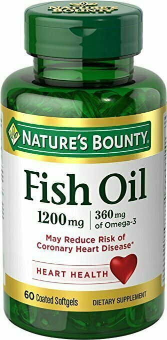 Nature's Bounty Fish Oil 1200 mg Omega-3 and Omega-6, 60 Odorless Softgels - usaotc.com