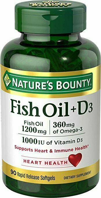 Nature's Bounty Fish Oil 1200 mg + Vitamin D3 1000 IU, 90 Softgels - usaotc.com