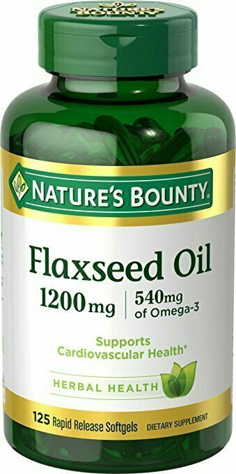 Nature's Bounty Flaxseed Oil 1200 mg, 125 Rapid Release Softgels - usaotc.com