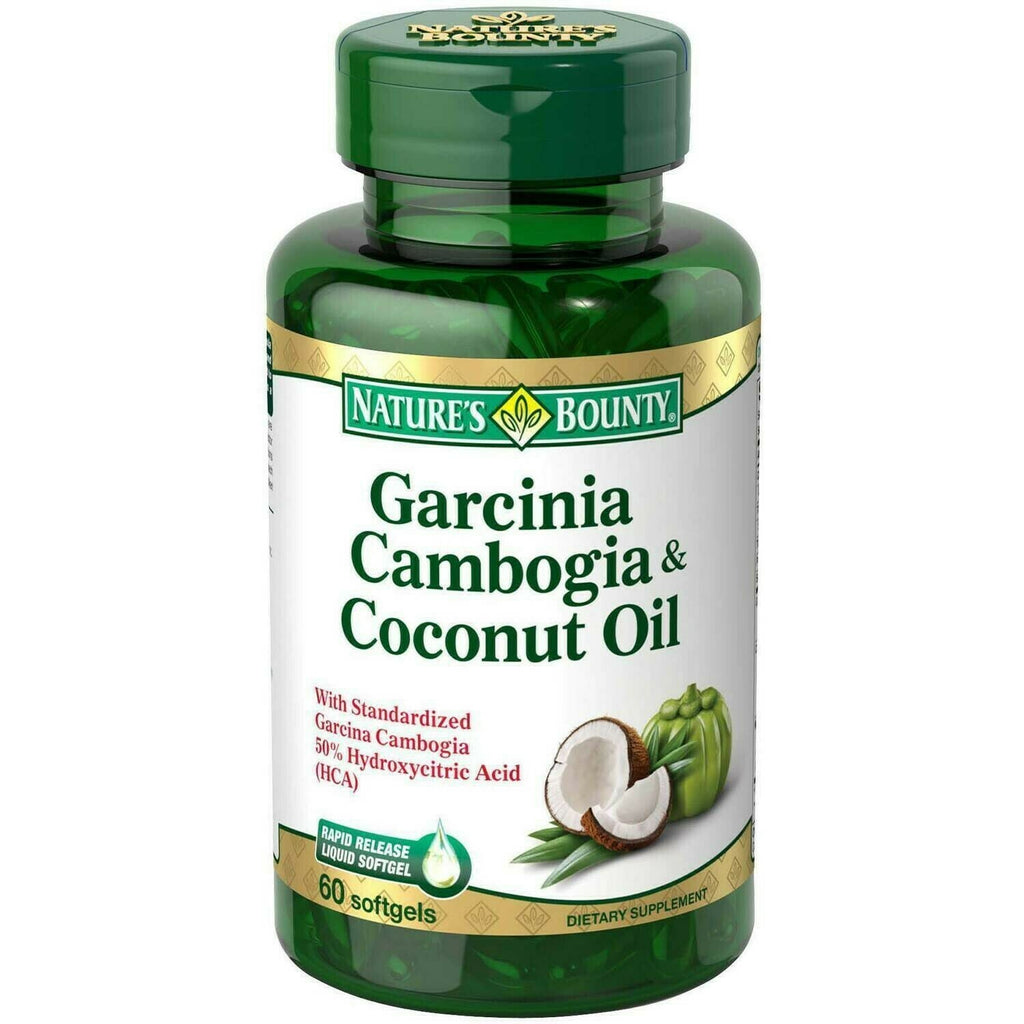 Nature's Bounty Garcinia Cambogia & Coconut Oil Dietary Supplement Softgels, 60 count - usaotc.com
