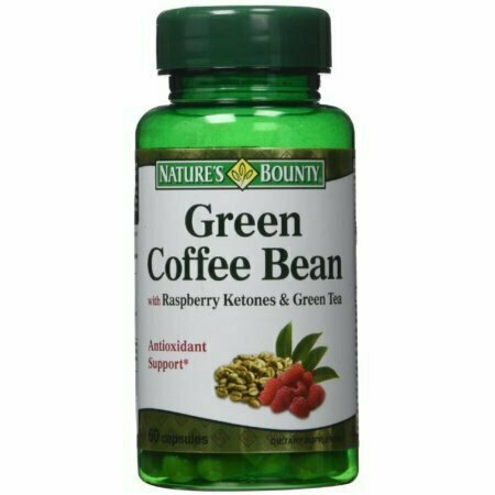 Nature's Bounty Green Coffee Bean with Raspberry Ketones & Green Tea Capsules, 60 each - usaotc.com