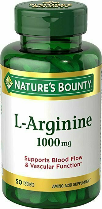 Nature's Bounty L-Arginine 1000 mg, 50 Tablets - usaotc.com