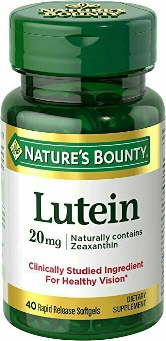 Nature's Bounty Lutein 20mg, 40 Softgels - usaotc.com