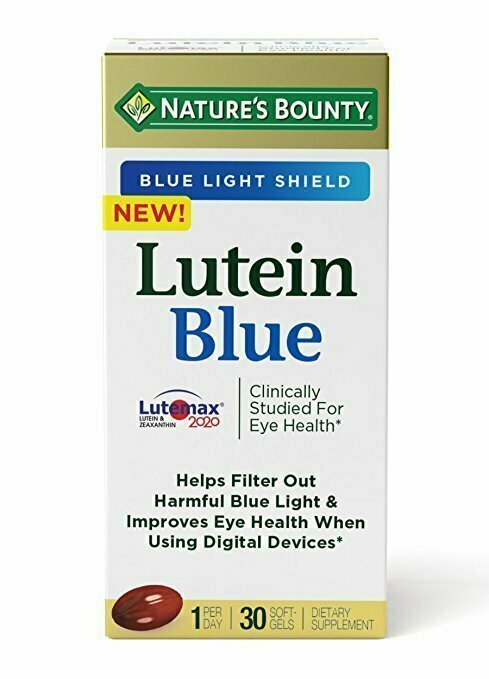 Nature's Bounty, Lutein Blue, for Eyes, Softgels (30 Count), Lutein and Zeaxanthin Supplements - usaotc.com
