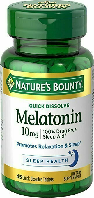 Nature's Bounty Melatonin 10 mg, 45 Quick Dissolve Tablets - usaotc.com