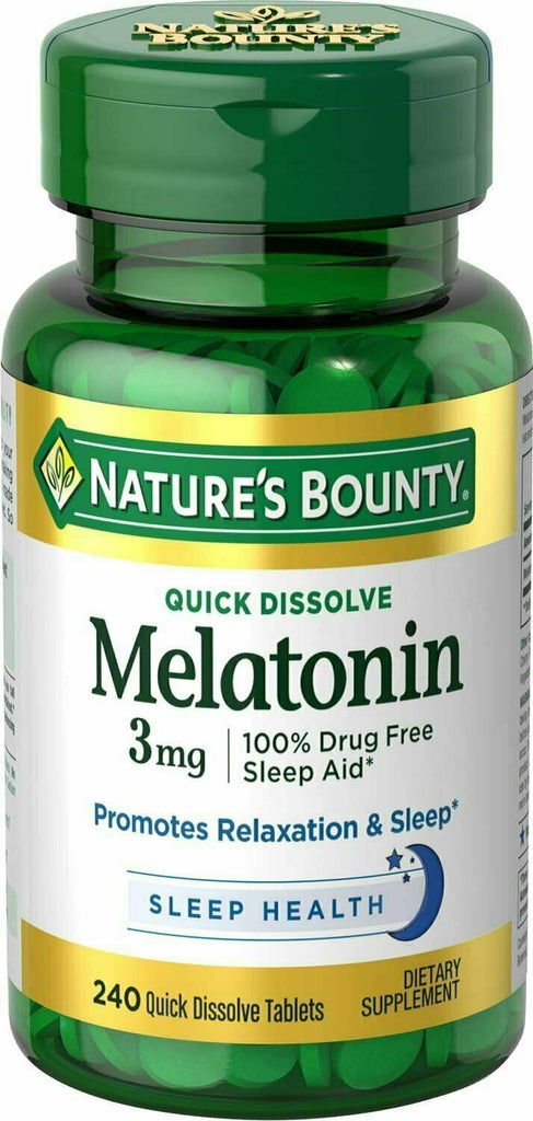 Nature's Bounty Melatonin 3 mg, 240 Quick Dissolve Tablets - usaotc.com