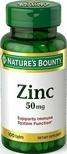 Nature's Bounty Zinc 50 mg Caplets 100 each - usaotc.com