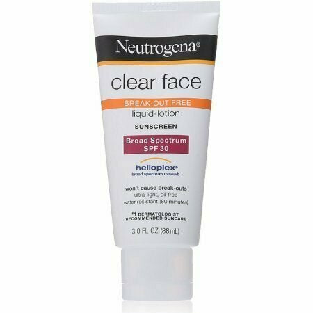 Neutrogena Clear Face Break-Out Free Liquid-Lotion Sunscreen SPF 30 3 oz - usaotc.com