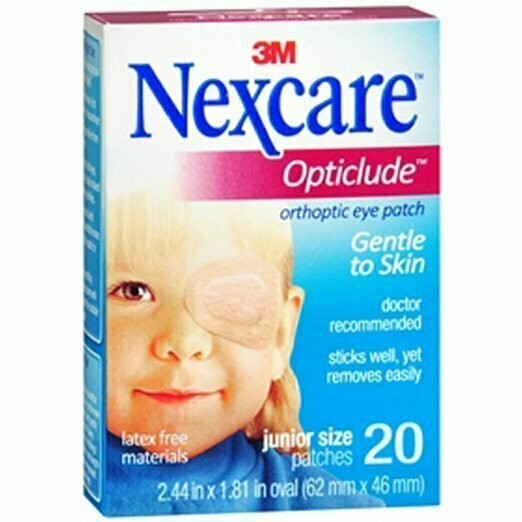 NEXCARE OPTICLUDE JR EYE PATCH 20CT - usaotc.com