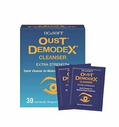 OcuSoft Oust Demodex Cleanser Pre-Moistened Pads 30ct - usaotc.com