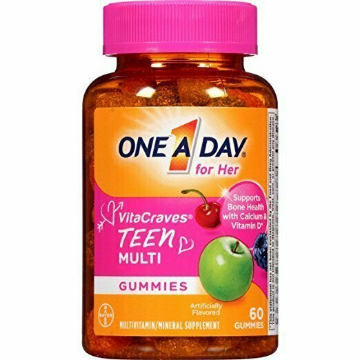 One A Day For Her VitaCraves Teen Multivitamin Gummies, 60 Count - usaotc.com