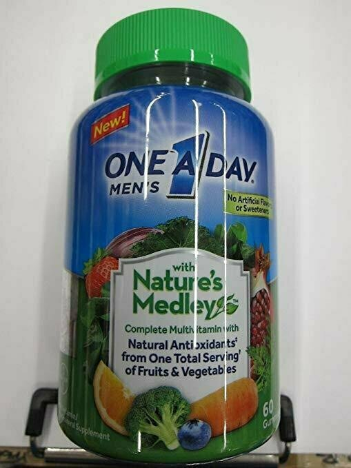One A Day Nature's Medley Men's Complete Multivitamin, 60 Gummies - usaotc.com