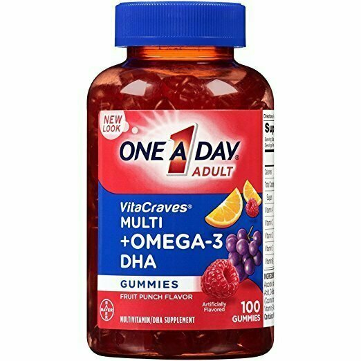 One A Day VitaCraves Multivitamin Gummies Plus Omega-3 DHA, 100 Count - usaotc.com