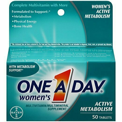One A Day Women's Active Metabolism Multivitamin, 50 Count - usaotc.com