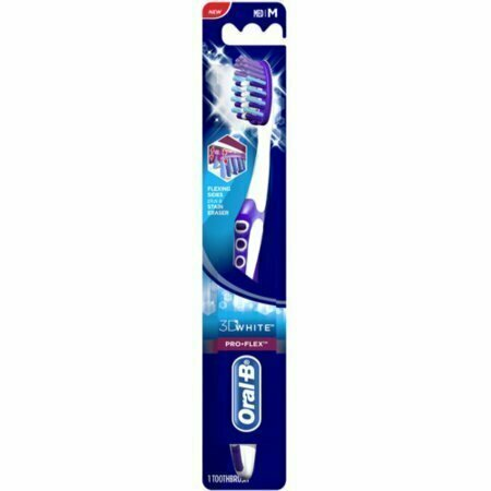 Oral-B 3D White Pro-Flex Toothbrush Medium 1 Each - usaotc.com