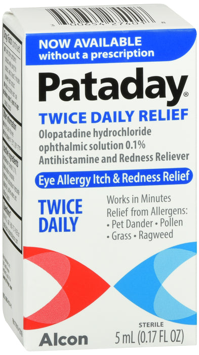 Pataday Twice Daily Eye Allergy Itch Relief Eye Drops, 5 ml - usaotc.com
