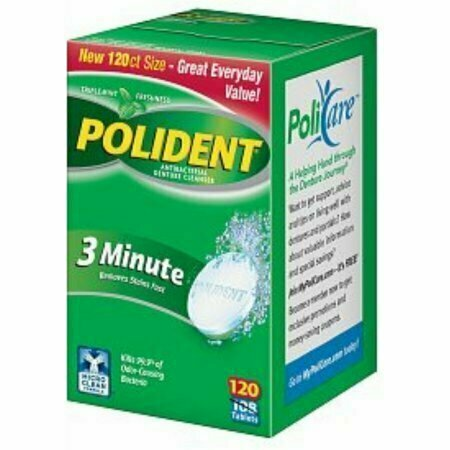 Polident 3 Minute, Antibacterial Denture Cleanser 120 each - usaotc.com