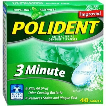 Polident 3 Minute Tablets 40 each - usaotc.com