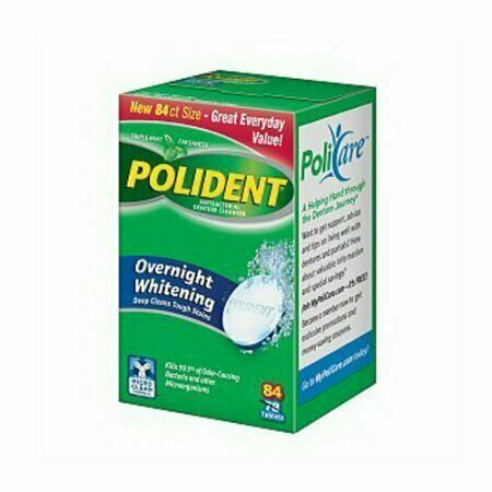 Polident Overnight Whitening Antibacterial Denture Cleaner Tablets - 84 Each - usaotc.com