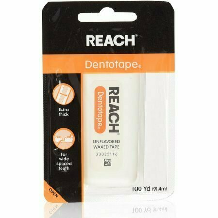 REACH Dentotape Waxed Tape, Unflavored 100 Yards - usaotc.com