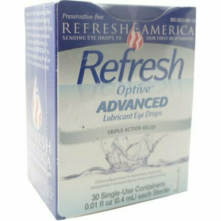REFRESH Optive Advanced Lubricant Eye Drops Single Use Containers 30 pack - usaotc.com