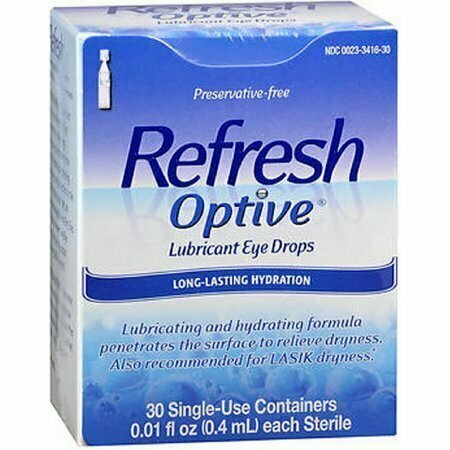 Refresh Optive Lubricant Eye Drops Long-Lasting Hydration Single Use Containers 30 pack - usaotc.com