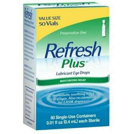 REFRESH PLUS Lubricant Eye Drops Single-Use Containers 50 Each - usaotc.com