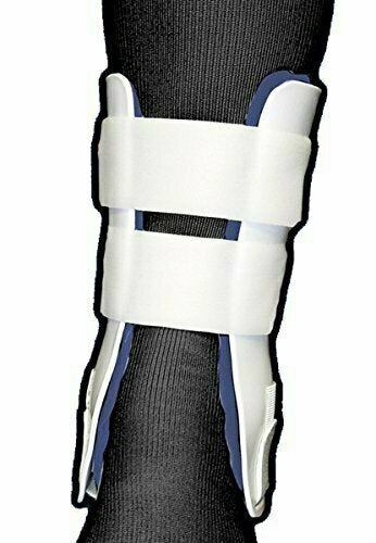 Rigid Stirrup Ankle Brace in White / Blue Size: Regular - usaotc.com