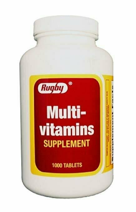 Rugby Multivitamins TAB ASCORBIC ACID-38 MG Red 1000 Tablets - usaotc.com