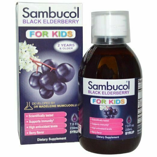 Sambucol Black Elderberry Kids Syrup, 7.8 oz - usaotc.com